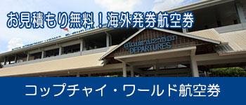 海外発券航空券コップチャイワールド航空券